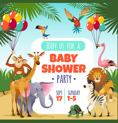 Mother baby shower template invitation children vector