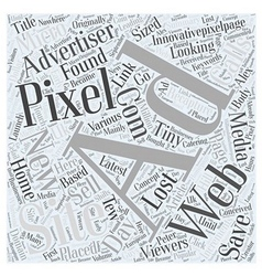 New and latest concept in Pixel Advertising Word vector