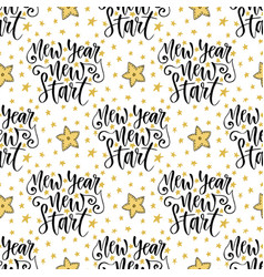 New year new start seamless pattern with modern vector