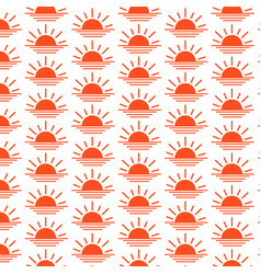 Pattern background sunrise sunset line icon vector