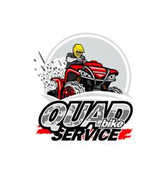 Quad bike service logo isolated background vector