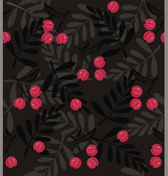 red berries a seamless pattern vector image