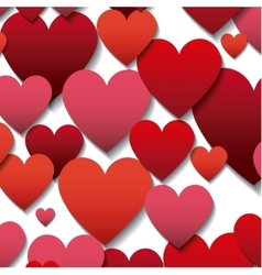 Red hearts background vector