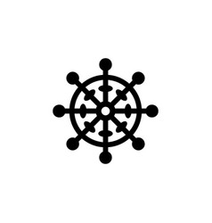 Religion symbol buddhism icon element of religion vector