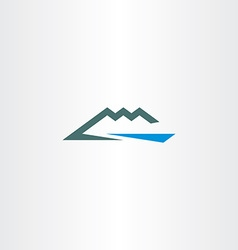 river and mountain icon symbol element vector image