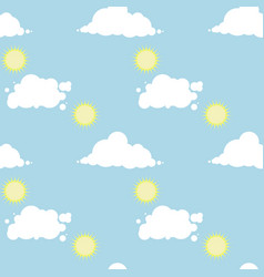seamless pattern with a sunny day sky vector image