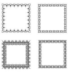 set ornate frames vector image