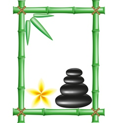 Spa zen stones and frame bamboo vector