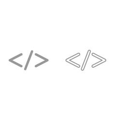 symbol code it is icon vector image