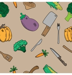 texture with vegetables vector image