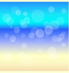 transparent circles on a colored background vector image