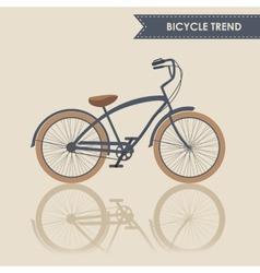 Trendy bike vector