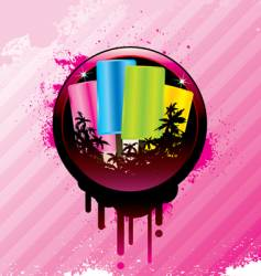 tropical ice cream vector image
