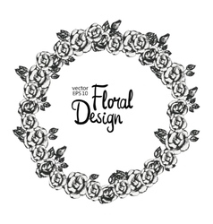 Vintage floral wreath vector