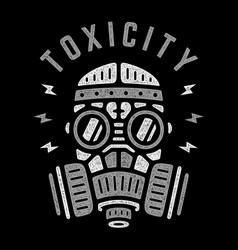 vintage gas mask vector image