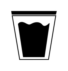 water glass emblem isolated icon vector image