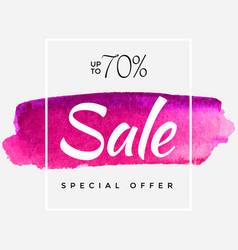 watercolor special offer super sale flyer banner vector image