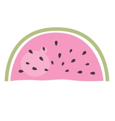 Watermelon - pink piece of fruit isolated on white vector image