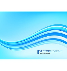 Wavy lines background vector image vector image