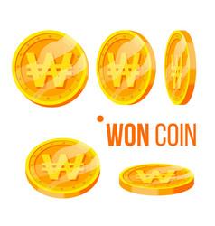 won coin gambling golden money currency set vector image