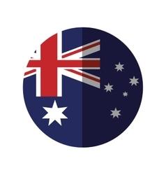 Australia flag color stars with shadow vector