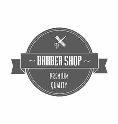 Barbershop logo in gray color vector image