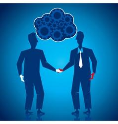 both businessmen shake hand vector image vector image