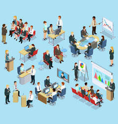 Business Coaching Isometric Collection vector image vector image