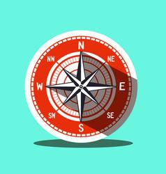 compass icon retro flat design symbol vector image vector image