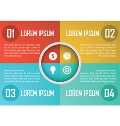 Four steps circle infographics design template vector image vector image