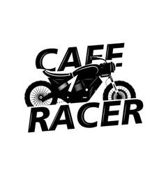 moto bike icon cafe racer vector image