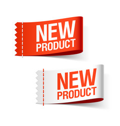 new product labels vector image vector image