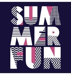 Summer Fun T-shirt Typography vector image
