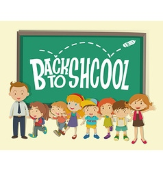 Back to school theme with teacher and students vector image vector image