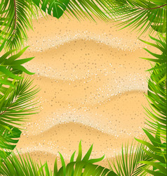 beautiful frame with sandy texture and exotic vector image