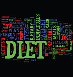find out which special diet will work for you vector image vector image