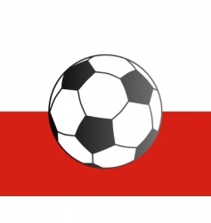 flag of Poland and soccer ball vector image vector image