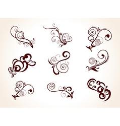 Florals set vector image