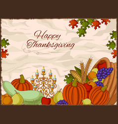 happy thanksgiving holiday celebration festival vector image vector image