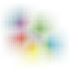 rainbow colors cmyk halftone background vector image
