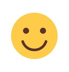 yellow smiling cartoon face emoji people emotion vector image vector image