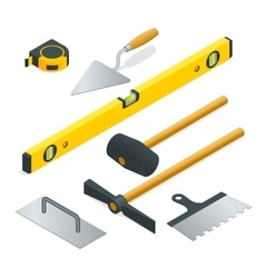 Collection of most common types of masonry tools vector image