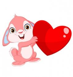 cute bunny Valentine's vector image vector image