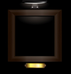 dark wooden frame vector image