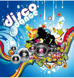 discotheque colorful background vector image
