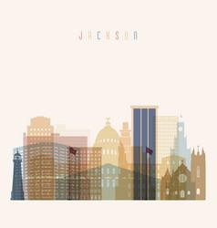 jackson state mississippi skyline vector image