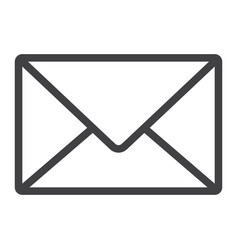 mail line icon web and mobile letter sign vector image