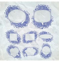 pen drawn bubbles vector image vector image