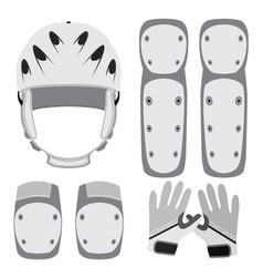 protective gear for skateboarding roller skating vector image vector image