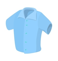 Short sleeved men shirt icon cartoon style vector image